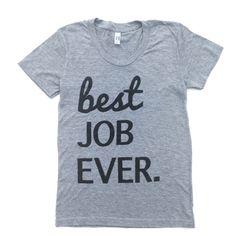 Image of WOMENS, BEST JOB EVER - grey
