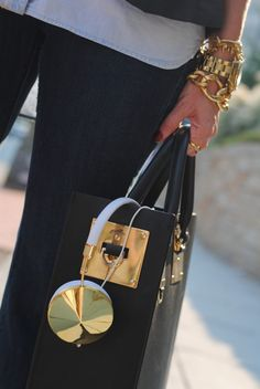 Sophie Hulme, Arm Party & Gold Frends Headphones...