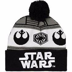575e88858fc7f Star Wars Rebel Forces Black White Knit Cuff Beanie Hat   Price   12.99