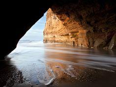 Cave on San Gregorio Beach, California