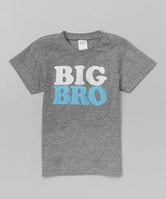 This Urban Smalls Heather Gray 'Big Bro' Tee - Toddler by Urban Smalls is perfect! #zulilyfinds