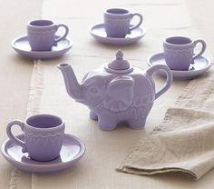 Elephant Tea Set | Pottery Barn Kids from Pottery Barn Kids. Shop more products from Pottery Barn Kids on Wanelo.