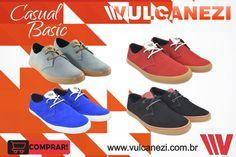 Linha Casual Basic Vulcanezi! Acesse nossa loja virtual e garanta já o seu!  Loja: http://www.vulcanezi.com.br/
