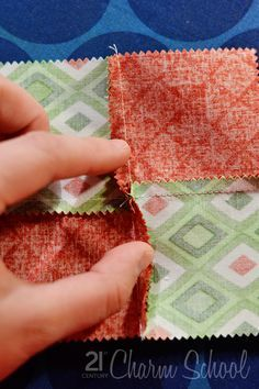 Tutorial:How to make a perfect four-patch quilt block