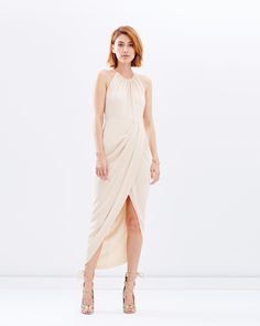Core High-Neck Ruched Dress by Shona Joy Online | THE ICONIC | Australia