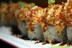 SUNSET ROLL: SPECIAL TEMPURA SHRIMP