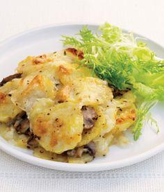 Cheesy Potato and Mushroom Gratin