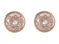 Michael Kors Collection Brilliance Botanical Stud Earrings Rose Gold/Clear - Zappos Couture