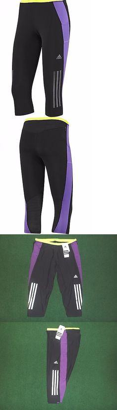 Other Womens Fitness Clothing 13360: New Adidas Womens Supernova Three Quarter 3/4 Running Tights ~Large~#G87448 BUY IT NOW ONLY: $32.75