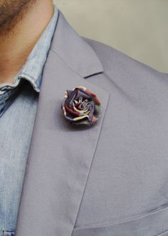 e8e112cf Flower Lapel Button/Boutonniere From the paul McCall line for Men