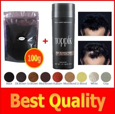 100g+ 27.5g bottle 9 colors hair building fiber for bulk or Wholesale Black hair loss treatment for thin hair cosmetics