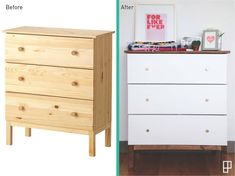 Ikea Hack Tarva Dresser - Interior Design Casey DeBois