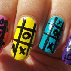 XOXO Nail Art Design