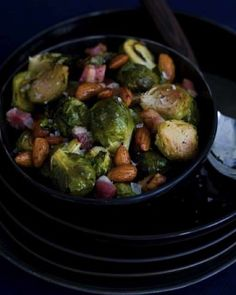 Brussel Sprouts with Pancetta & Almonds