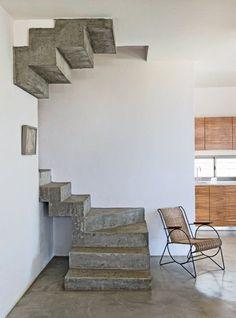 Un escalier en béton pour un style épuré