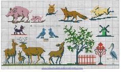 Vintage Cross Stitch Motiffs