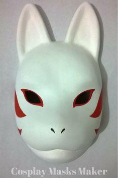 Cosplay Masks: Tobi Akatsuki and Kakashi Anbu Kitsune from Anime Naruto, Ichigo Hollow from Bleach, Nora from Noragami, Vega from Street Fighter and more. Manga Naruto, Naruto Shippuden Anime, Anime Cat, Manga Anime, Anbu Mask, Japanese Fox Mask, Kakashi Anbu, Creepy Masks, Kitsune Mask