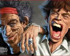 michel achard - The Rolling Stones Mick Jagger & Keith Richards Mick Jagger Rolling Stones, The Rolling Stones, Rolling Stones Tattoo, Satire, Funny Caricatures, Celebrity Caricatures, Celebrity Drawings, Tattoo Brazil, Rolling Stones Keith Richards
