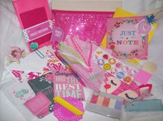Fun Planner and Snail Mail Kit Filled with Stationery, Planner & Snail Mail Supplies (Comes In A Pink Sequin Pencil Pouch) by ASprinkleOfLovely on Etsy