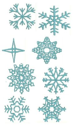 Pattern / Template for Snowflakes