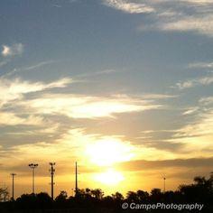 Good Morning!!!! #mondays #mornings #sun #sunrise #sky #skyporn #sunporn #cloudporn #orlando #iphoneography #iphone4 #campephotography