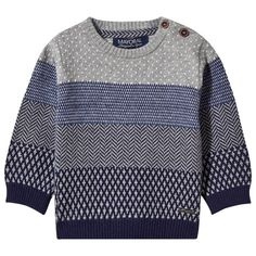 Mayoral Blue and Grey Colour Block Jumper