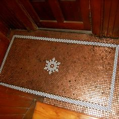 How cool is this reader's penny floor with hex tile inlay?   | 2013 Reader Remodel Contest | thisoldhouse.com/yourTOH