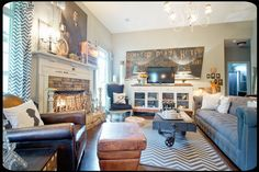 Shabby Chic Eclectic Living Room