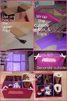 DIY Shoe storage for infant/toddler shoes. Super cheap & cute!