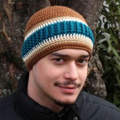 Just for Men Beanie | AllFreeCrochet.com