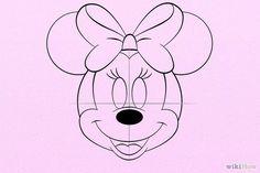 Bildtitel Draw Minnie Mouse Step 7
