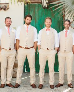 Steve's+guys+wore+J.Crew+vests+and+pants,+with+Daniel+Cremieux+neckwear.