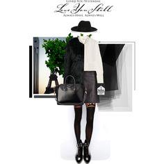 #fallstyle #fall2014 #fallfashion #Fall #chic #fur #blackandwhite #black #Leather #acne #Givenchy