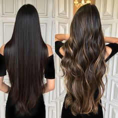 Likes, 112 Kommentare - Secrets Fashion (Segredosfashion) auf Instagr . Brown Hair Balayage, Hair Color Balayage, Hair Highlights, Partial Balayage Brunettes, Dark Hair With Caramel Highlights, Beautiful Long Hair, Gorgeous Hair, Cabelo Ombre Hair, Hight Light