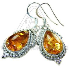 Amber Stone Earrings