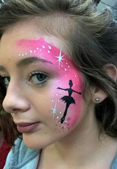 facepaint ideas child face painting unicorn for kids Disney Face Painting, Girl Face Painting, Face Painting Designs, Painting For Kids, The Face, Face And Body, Wie Macht Man, Head Tattoos, Artistic Make Up