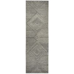 Rizzy Home Hand-tufted Suffolk Grey Wool Geometric/ Solid Runner Area Rug (2'6 x 8') (SK334A Gray 2'6 X 8' Tufted Geometric/Solid Rugs), Size 2' x 8'