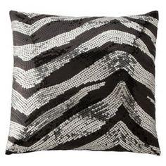 $20 Xhilaration® Sequin Decorative Pillow - Zebra (1... : Target Mobile