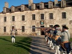 Old Fort Niagara - There's a virtual tour on the site if anyone hasn't seen it yet! I saw it when I was a kid and it's a great place for a wedding :)