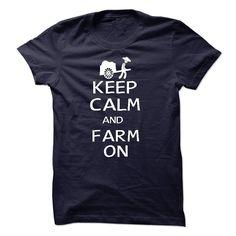 (Top Tshirt Seliing) KEEP CALM AND FARM ON [Tshirt Sunfrog] Hoodies, Tee Shirts