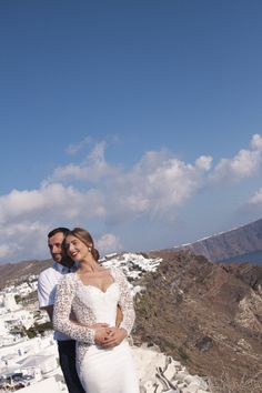 Honeymoon Photo Shoot in Oia Honeymoon Photography, Wedding Photography, Santorini Honeymoon, Santorini Photographer, Photo Shoot, Wedding Dresses, Lace, Women, Fashion