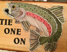 Rainbow trout string art