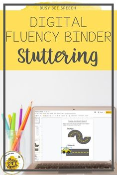 Simple and easy stuttering binder for digital therapy!