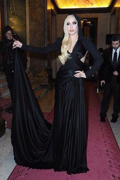 Lady Gaga in Spring Atelier Versace 2014