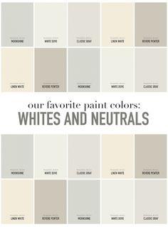 SummerHouse Designers' favorite white and neutral paint colors // www.alwayssummerblog.com