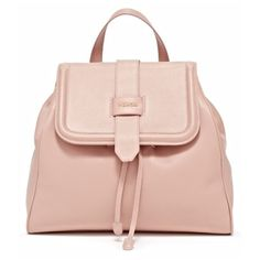 Mahon Fortuna Dusty Rose Backpack ($2,375) ❤ liked on Polyvore featuring bags, backpacks, dusty rose, pocket backpack, bucket backpack, pink leather bag, zipper bag and leather bags