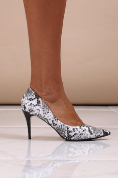 10f49095a45 Charlize Black Snakeskin Courts. Virgo Boutique Fashion · Women s Fashion  Shoes