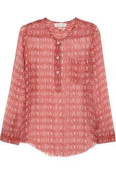 Étoile Isabel Marant Zino printed silk-chiffon top | NET-A-PORTER