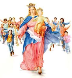 Maria Auxiliadora,Mary help of christians. Santa Maria, My Maria, Mama Mary Images, Images Of Mary, I Love You Mother, Mother Mary, Holly Pictures, Archangel Gabriel, Christ The King