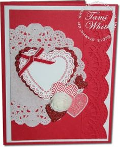 Stampin' Up! Hearts a Flutter stamp set and Framelits. Valentines Day Card series